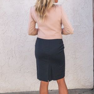 J. Crew lined pencil skirt with pinstripe